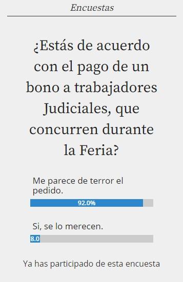 encuestas  - judiciales
