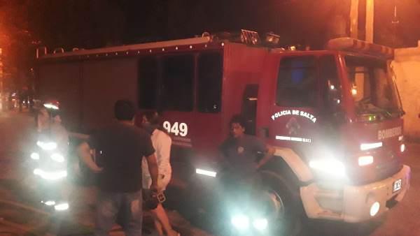 Pablo Martearena. Incendio en B° Leopoldo Lugone