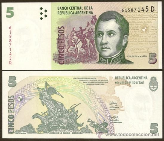 economia billete 5 pesos