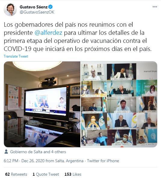 Twitter Gustavo Sáenz