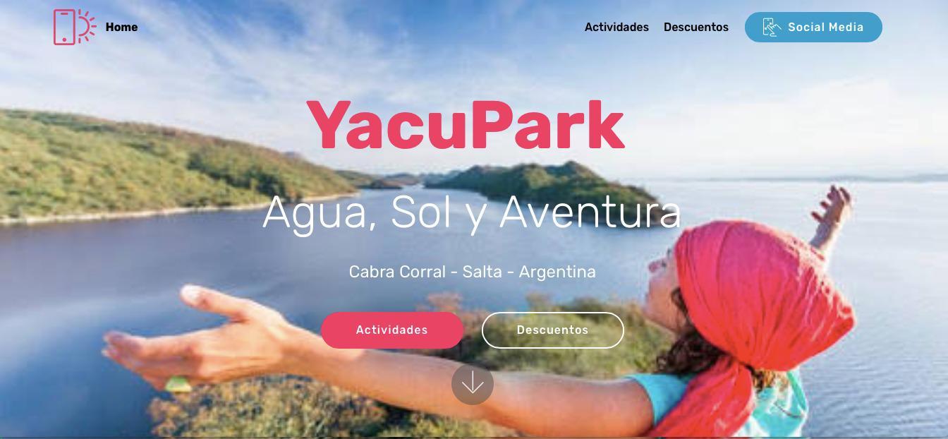 """""""YacuPark"""", la plataforma donde podes conocer toda la oferta turística del dique Cabral Corral"""