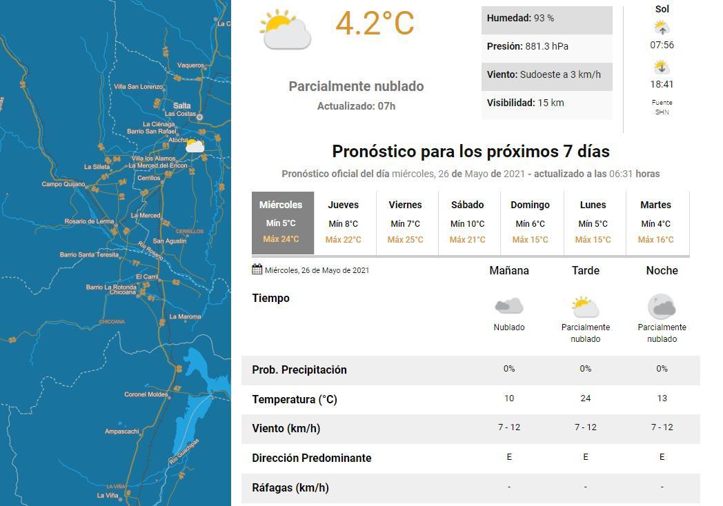 clima miercoles 26