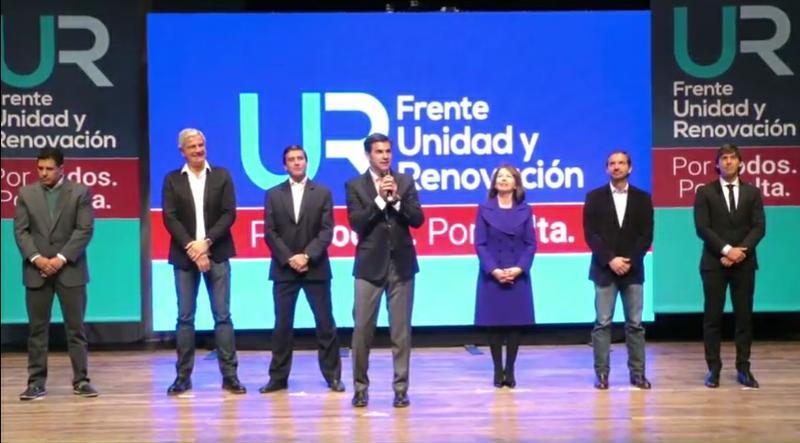 Urtubey presentó los precandidatos a diputados nacionales del frente Unidad y Renovación
