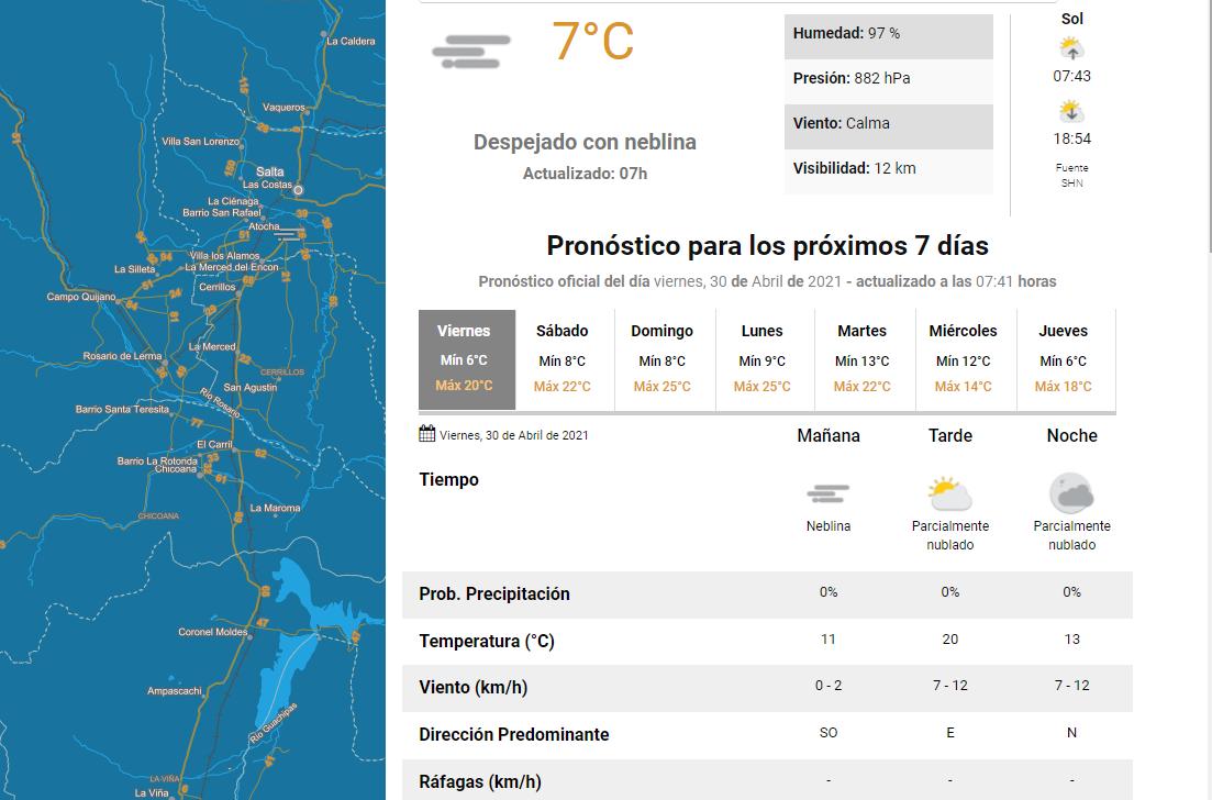 clima viernes 30