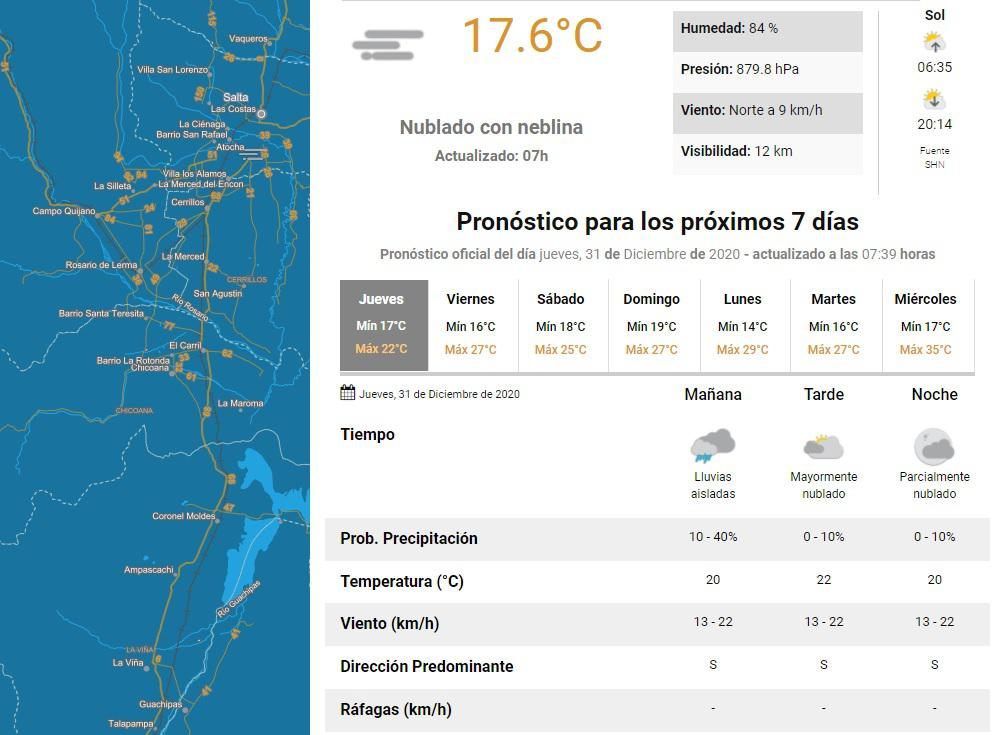 clima jueves 31