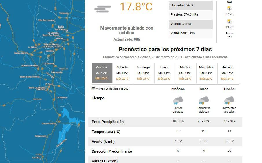 clima viernes 26