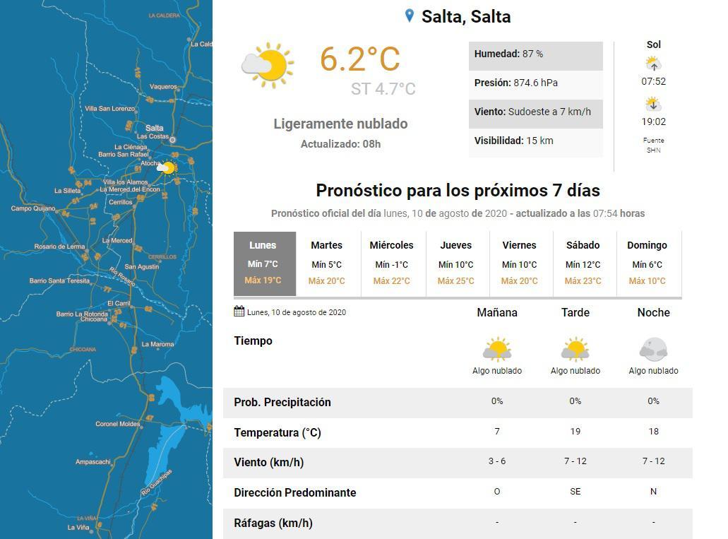clima lunes 10+