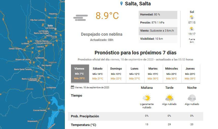 clima viernes 18