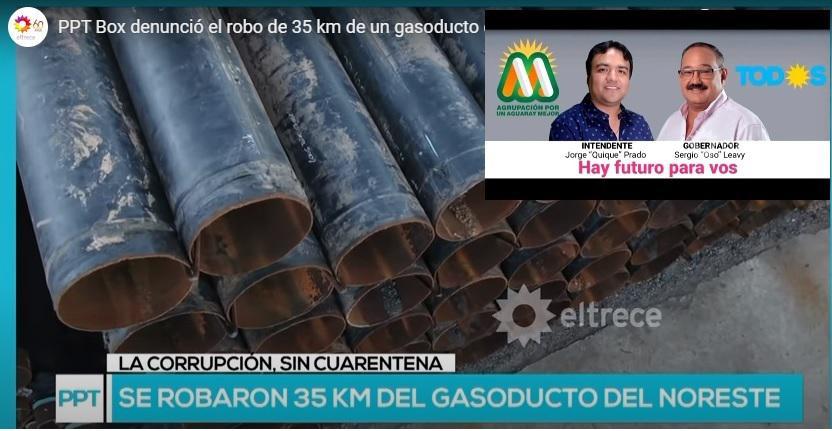 robo de caños gasoducto leavy