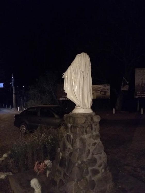 La Caldera Imagen de la Virgen Vandalizada