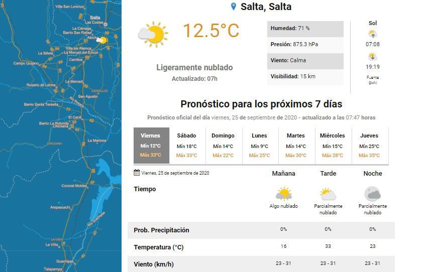clima viernes 25
