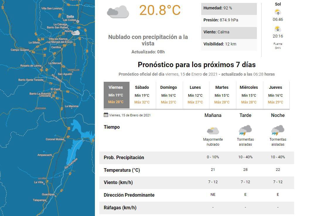 viernes 15 clima