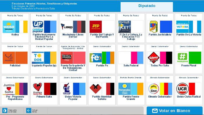 pantalla voto electronico - diputados capital
