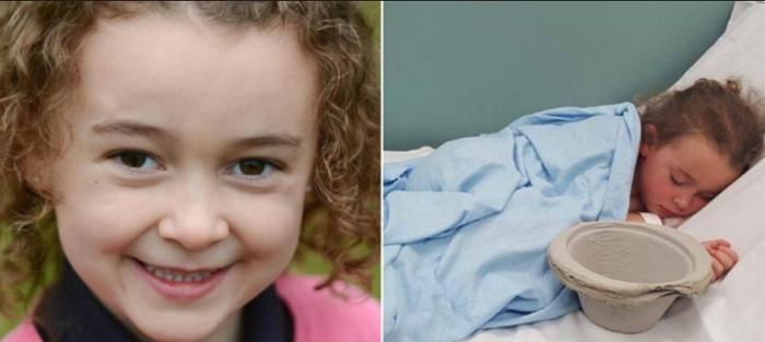 """""""Esto es lo que hace el bullying"""": la foto de una nena de seis años internada por el acoso escolar"""