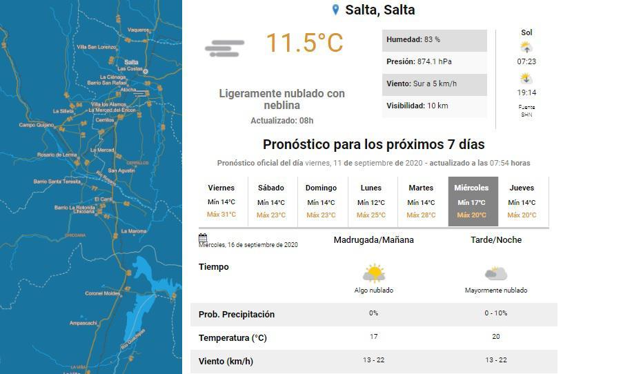 clima viernes 11