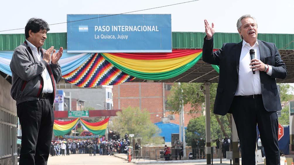 Alberto Fernández despidió a Evo Morales en Jujuy