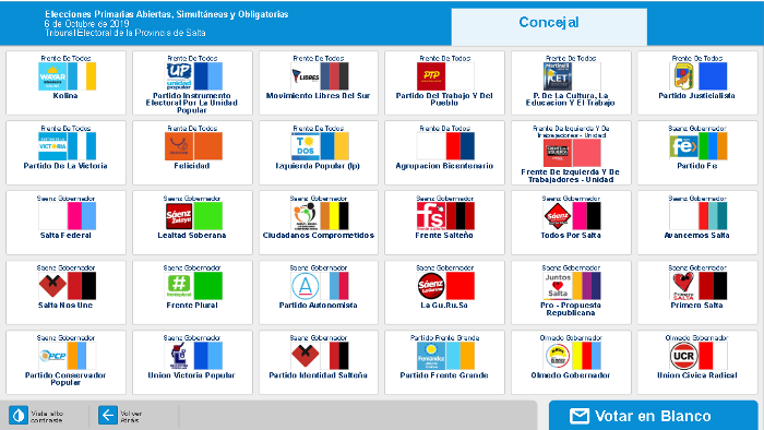 pantalla voto electronico - concejal