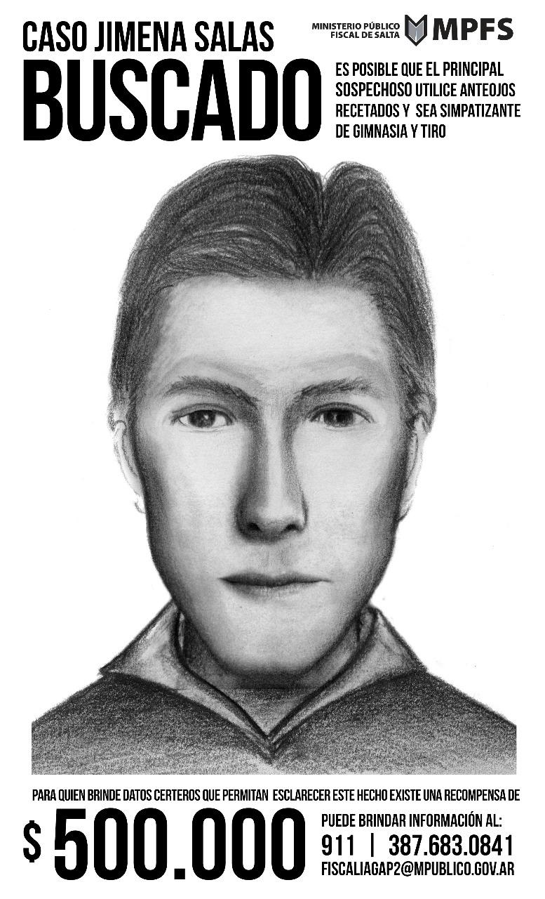 identikit sospechoso del crimen Jimena Salas