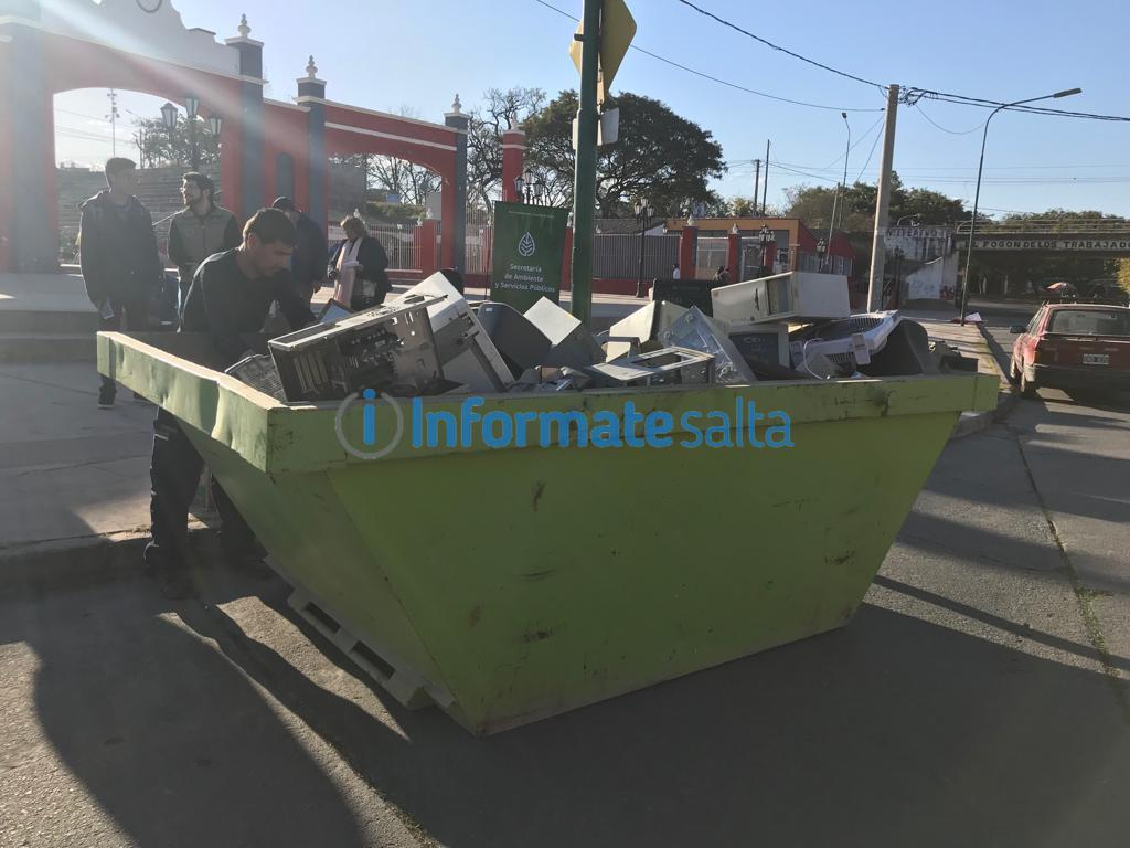 basura electronica contenedores