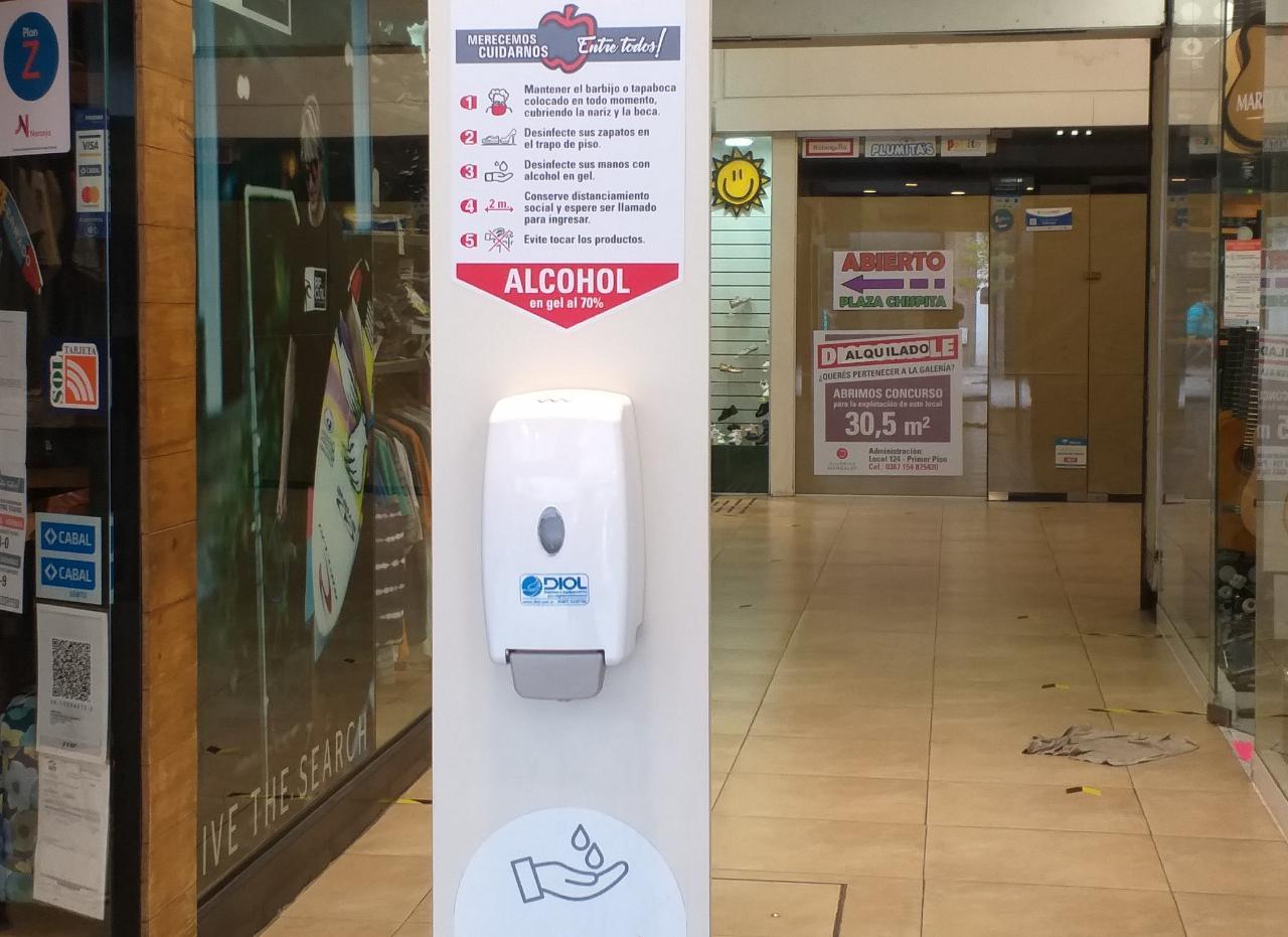galeria alcohol medidas sanitarias seguridad higiene comercio