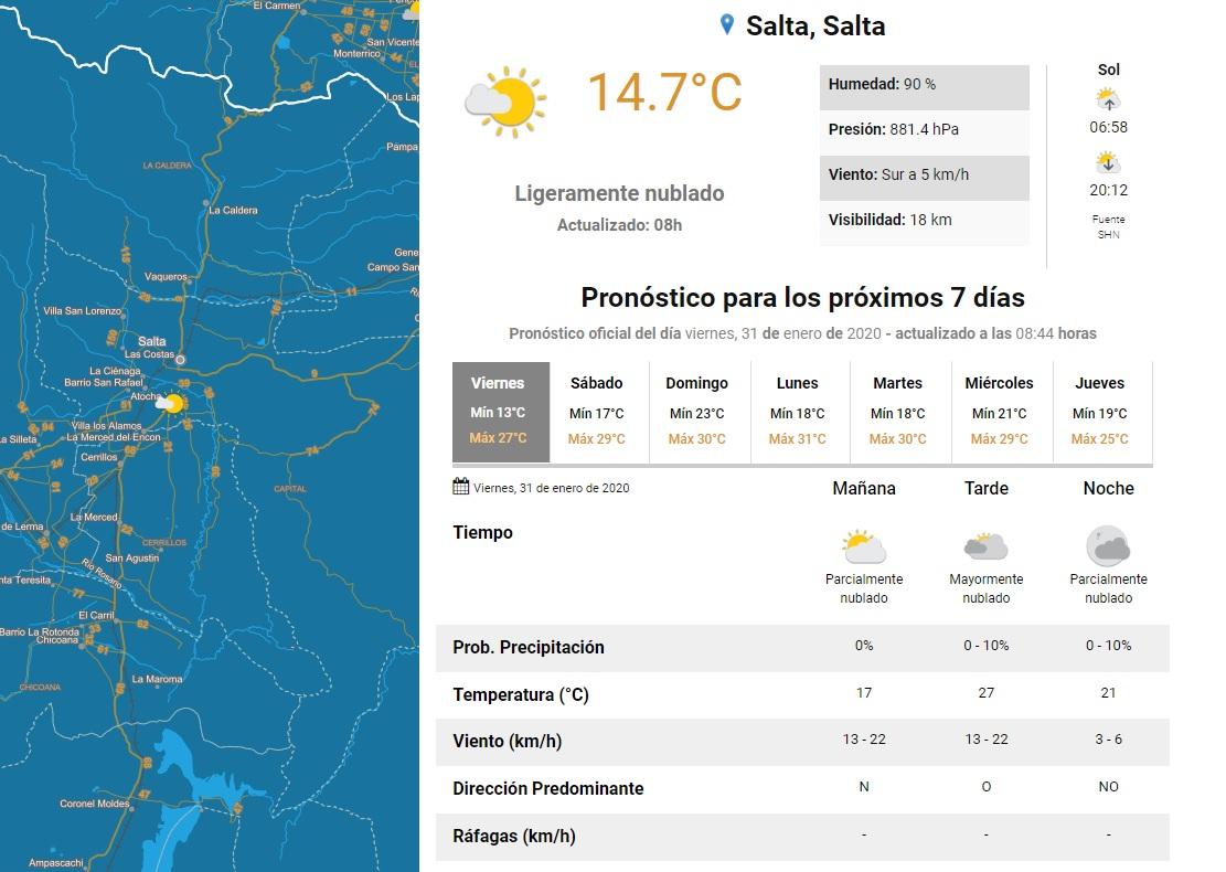 clima viernes 31