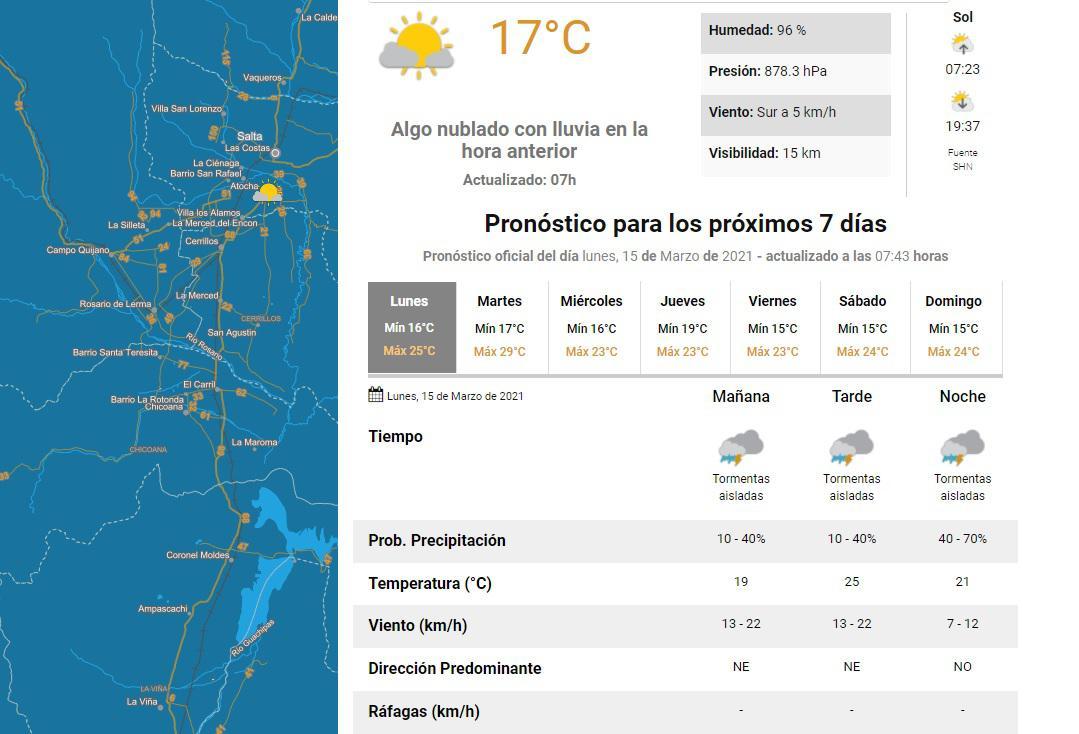 clima 15 de marzo