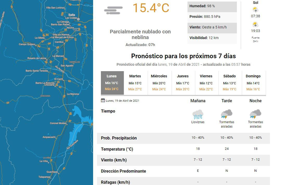 clima lunes 19 aabril
