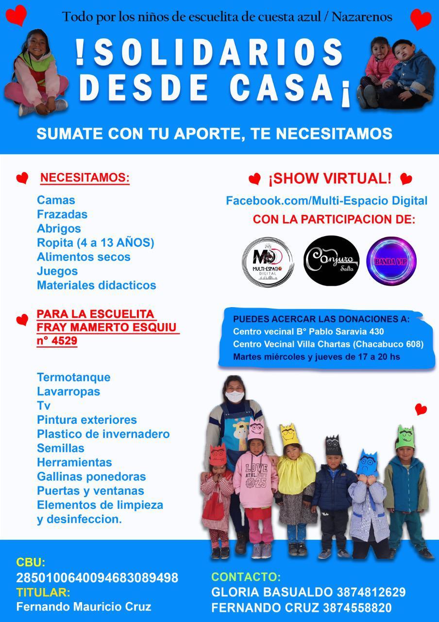 campaña escuela de Nazareno
