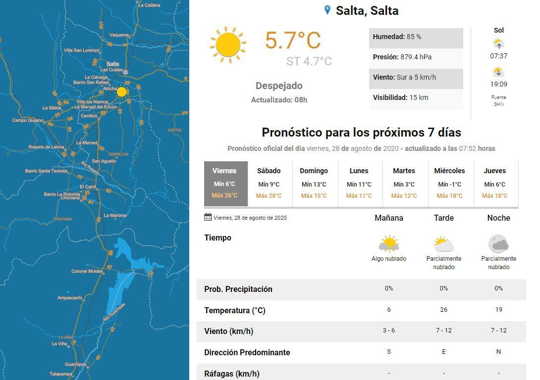 clima viernes 28