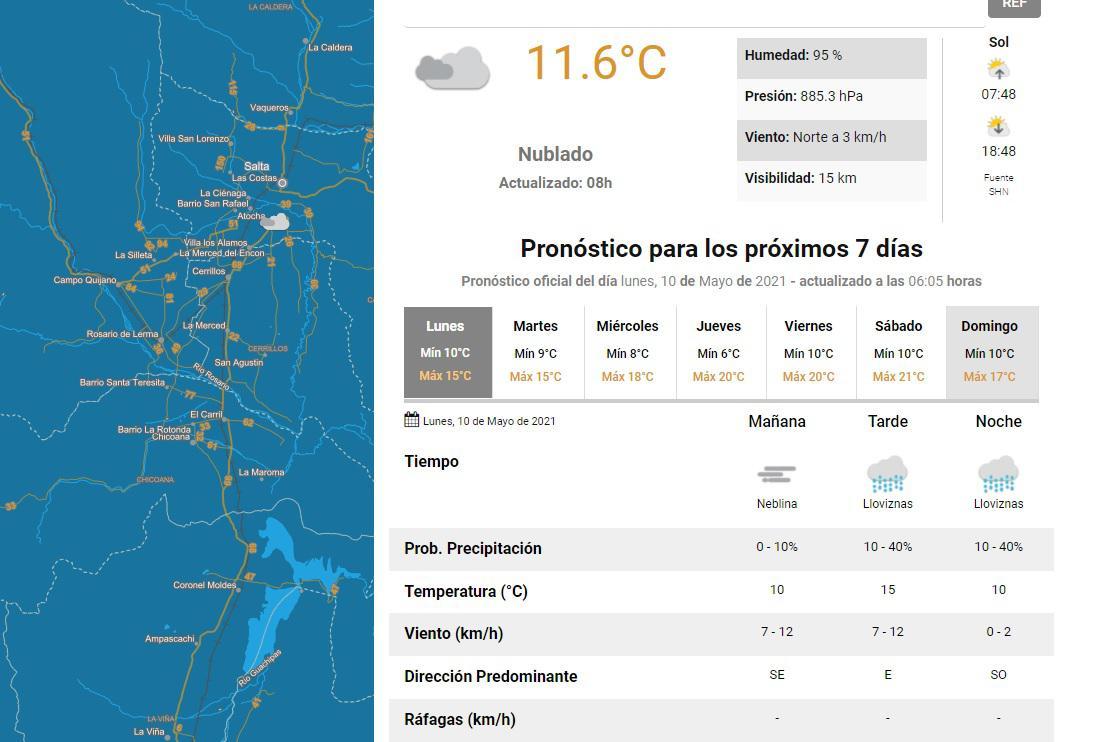 clima lunes 10 mayo