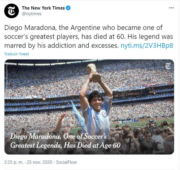 Maradona New York Times