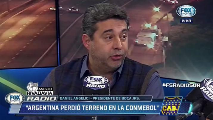 Robo televisado durante una entrevista a Daniel Angelici