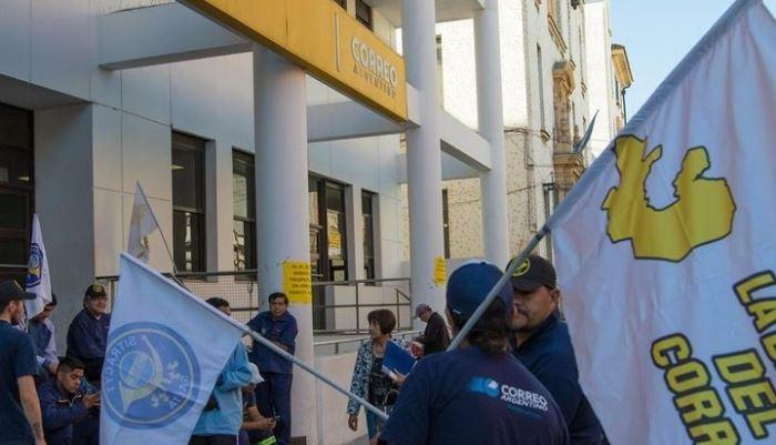 correo argentino protesta