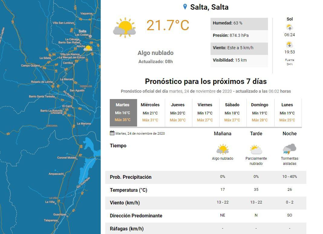 clima martes 24