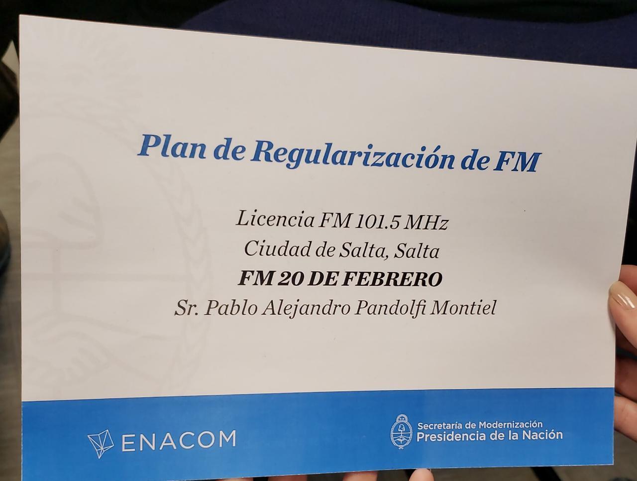 licencia fm 20