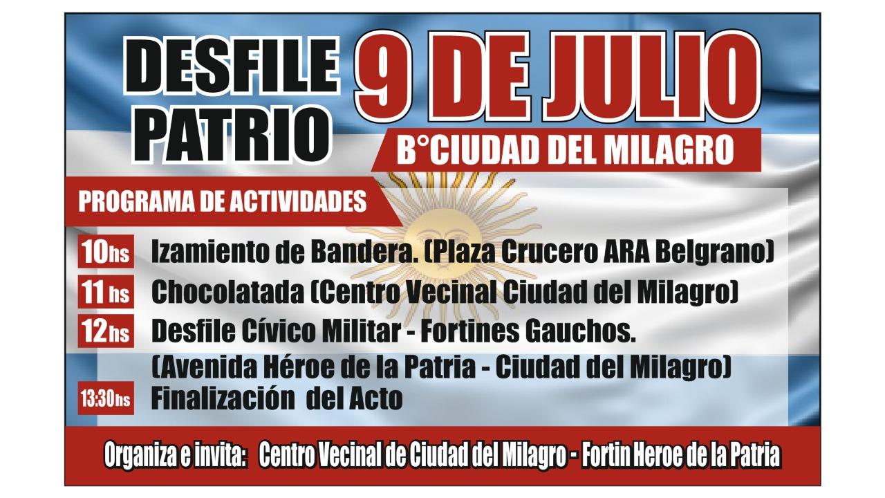9 de julio ciudad del milagro