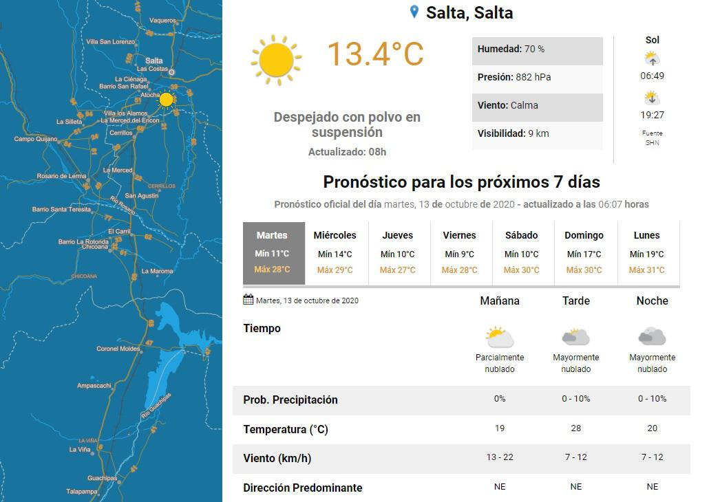 clima martes 13